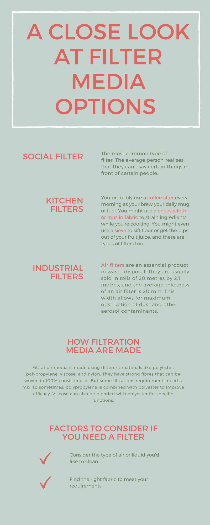 filter media option