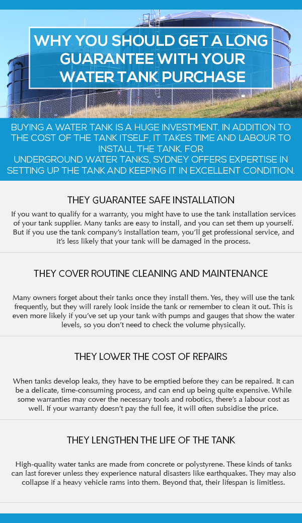 WHY YOU SHOULD GET A LONG GUARANTEE WITH YOUR WATER TANK PURCHASE