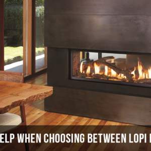 Lopi fireplace
