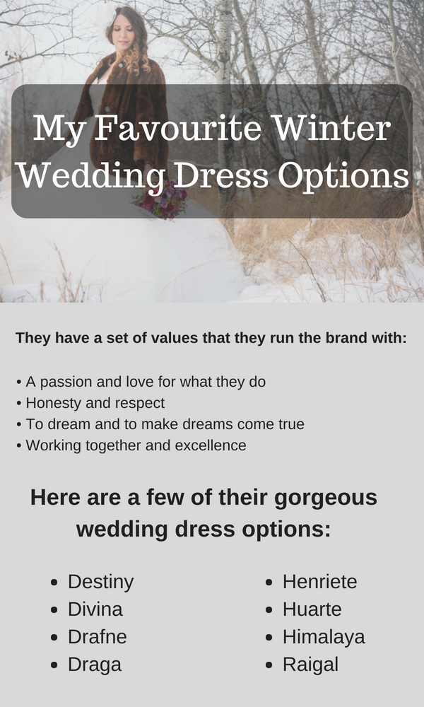 My Favourite Winter Wedding Dress Options Sydney
