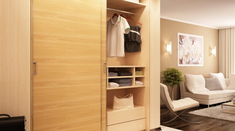 Modern Sliding wardrobe in living room